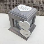 Shabby Chic PERSONALISED Rustic Wood In Memory Of GRANDMA Or ANY NAME Photo Cube - 253968310992
